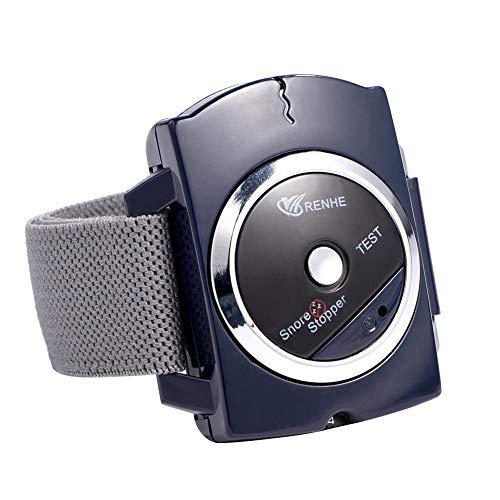 Qkiss Dispositivo Antirronquidos, Pare el Ronquido Reloj Inteligente de Pulsera Antirronquidos la Mejor Solución de Sueño Saludable Anti Snoring Dispositivo de Dilatador