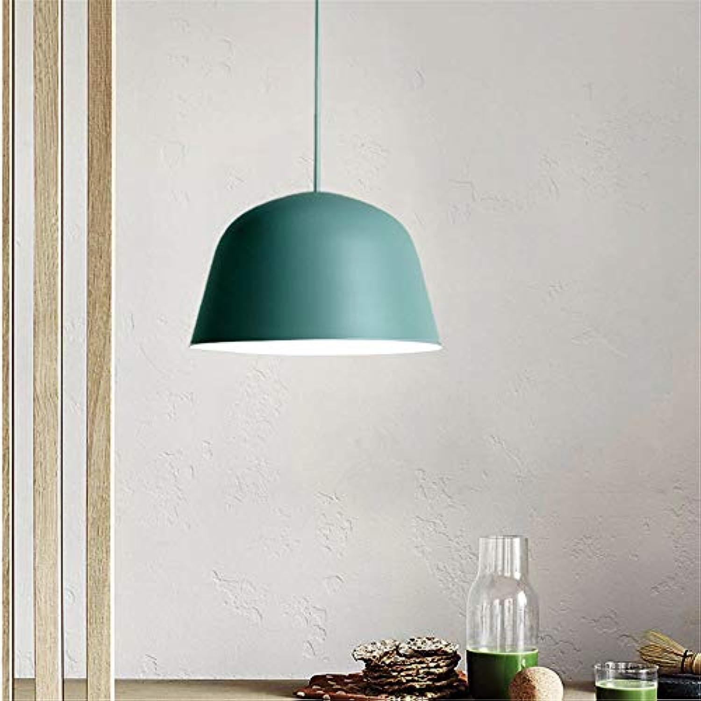 Yuyu19-Chandelier Kronleuchter Nordic Industrial Vintage Loft Deckenleuchte Küche Schlafzimmer Bar Wohnzimmer Esszimmer Schmiedeeisen Schatten, grün