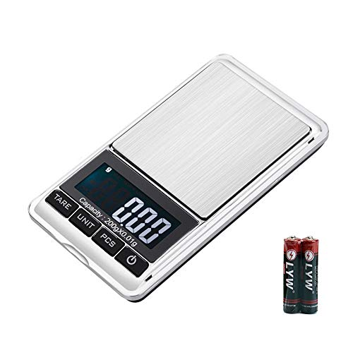 『最新版 携帯タイプ ポケットデジタル スケール 0.01g-200g精密 業務用(プロ用) デジタルスケール 電子天秤[1ヶ月の保証]』のトップ画像