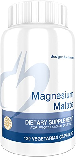 Price comparison product image Designs for Health Magnesium Malate - 360mg Magnesium for Energy + Muscle Support (120 Capsules)