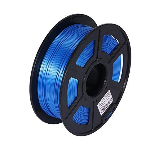 Night K Silk PLA Blue Consumables 3D Printer Consumables Printing Pen Filament Flexible Consumables Accuracy +/- 0.02 mm,1kg Spool