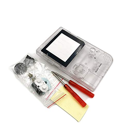 Full Housing Case Cover Housing Shell Replacement for Gameboy Pocket Game Boy Pocket Console GBP Shell Case with Buttons Kit (Clear)