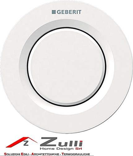 Geberit 116,041.11,1-Pulsante pneumatico a distanza 01, a muro, per scarico WC semplice, per Sigma 8 cm, colore: bianco alpino