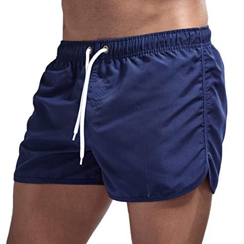 Dasongff Bañador para hombre, de secado rápido, para verano, tiempo libre, con cordón
