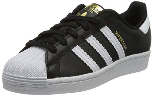 adidas Women's Superstar W Sneaker, Core Black/FTWR White/Core Black, 3.5 UK