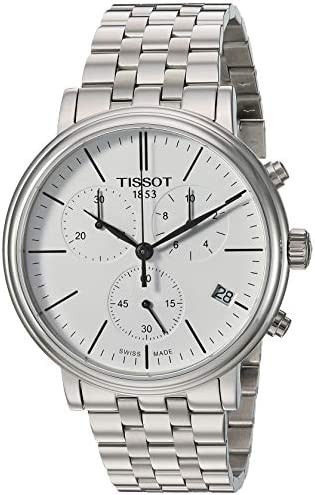 Tissot mens Carson Stainless Steel Dress Watch Grey T1224171101100 product image