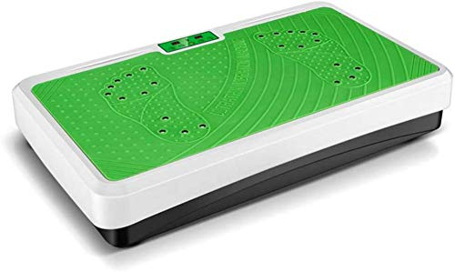 Máquina de fitness con plataforma de vibración de cuerpo entero 3D con masaje magnético 9 deportes 99 protección contra cortocircuitos para pérdida de peso/forma-verde