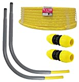HOME-FLEX Polyethylene Gas Pipe Kit 1/2 in. x 100 ft. IPS 2 Couplers 2 Risers