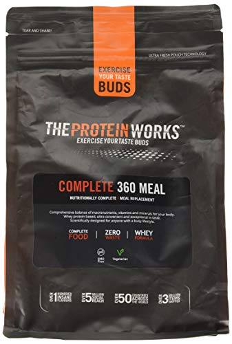 The Protein Works Complete 360 Meal Nutritionally Balanced Quick & Affordable Strawberries 'n' Cream Classic, 1 kg