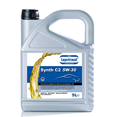 Leprinxol Synth C2 5W-30 5 Liter LSC C2 5W30 MOTORÖL FÜR Renault FIAT richtige KFZ Motorenöl für Normen RN 0700, ACEA C2, API SN/CF sowie FIAT 9.55535-S1