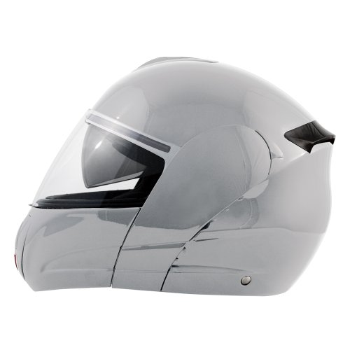 Akira Hirosaki Motorradhelm Integral, Silber, Größe M