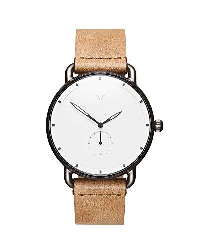 MVMT Herren Analog Quarz Uhr mit Leder Armband D-MR01-WC