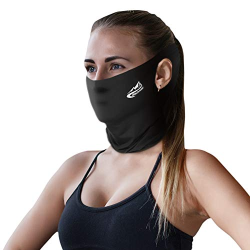 SKL Neck Gaiter Summer Face Mask with Ear Loops Sun Protection Face Cover Bandana Breathable Face Mask Men Women for Fishing Running Cycling