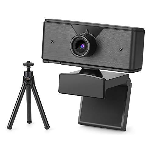 BlumWay Webcam 1080P mit Mikrofon, Breitbild Webcam mit Stativ, PC Laptop USB Full HD Computerkamera, Video Webkamera für Videoanrufe, Konferenzen, Aufzeichnen