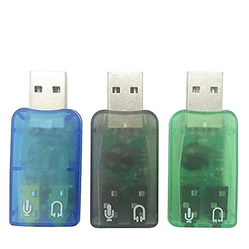 Kaxofang Adattatore Audio USB, Jack per Cuffie e Microfono da 3,5 Mm Scheda Audio Stereo Esterna Plug e per Windows, PC,
