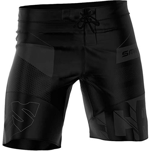 SMMASH Dexter Black Professionali Pantaloncini Crossfit Uomo, Traspirante e Leggero Pantaloncini Palestra Sportivi da Uomo, Materiali Antibatterici,Prodotto nell'Unione Europea (XL)