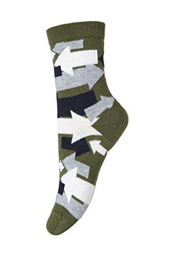 MP Strümpfe Socken, Jungen 7972 Pfeilmuster, Oliv (862), Gr. 29-32