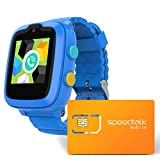 4G Kids Smart Watch -– Ready Out of The Box – with Preinstalled SpeedTalk Mobile Smartwatch SIM Card – Remote Monitoring/Video Call/GPS Tracker Age 4 Years +