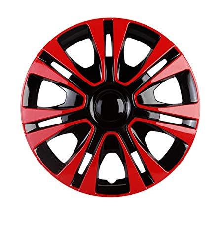 HUANGRONG Funda universal para rueda de 14 pulgadas de coche, de hierro, accesorios de reparación automática (2 piezas) (color: rojo)