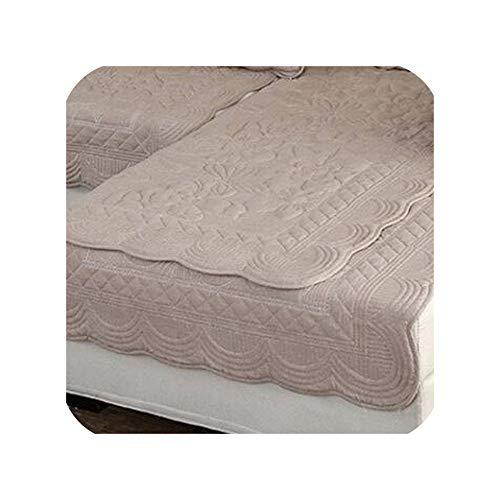 Groene Plaid Borduren Print Sofa Covers Effen Kleur Sofa Kussen Slip bestendig Bank Cover Kussen Vier Seizoenen Sofa Handdoek