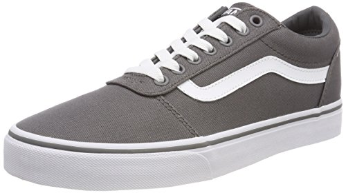 Vans Herren Ward Sneakers, Grau (Canvas) Pewter/White 4wv, 39 EU