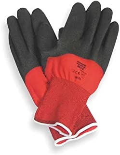 North Northflex-Red X NF11 Black/Red Large Nylon Full Fingered Work & General Purpose Gloves - PVC Foam Palm & Over Knuckles Coating - Rough Finish - Seamless Lining - NF11X/9L [PRICE is per PAIR]