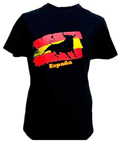 ZiNGS Camiseta Toro y Bandera de España Adulto - Pequeña