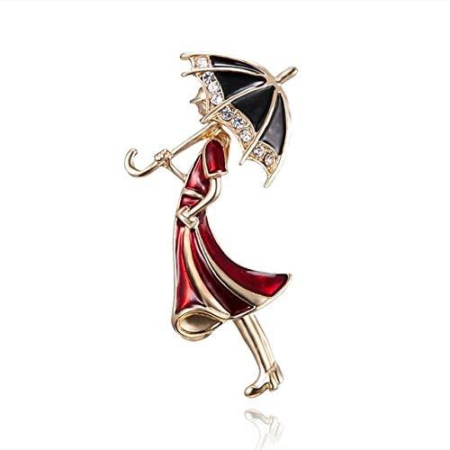 Moda Temperamento Baile Chica Ballet Niñas Dibujos Animados Brillante Cristal Broches Mujeres Collares Pins-7