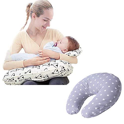 Star Ibaby Cojin de lactancia y embarazo con almohada - Color Stars Gris