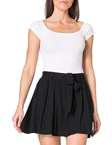 ONLY Damen Onlnova Life Jasmin Skirt SOLID WVN Rock, Black, M