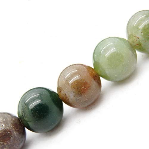 cuentas de piedras naturales para hacer bisuteria, perlas Piedra para pulseras perlas collares, 5 hebras en el interior, Indian Agate 8mm