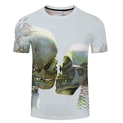 T-Shirt Crâne 3D Imprimer T-Shirt Hommes Femmes T-Shirt D'été Drôle À Manches Courtes O-Neck Tops & T-Shirts Lâche Asianl Tx381