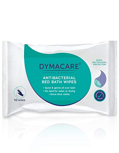 DYMACARE salviette antibatteriche il bagno DYMACARE|Disinfezione pelle senza risciacquo | panni disinfettanti corpo adulti | salviette umidificate antibatteriche...