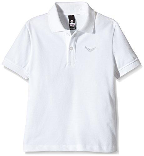 Trigema Mädchen Polo-Shirt Piqué-Qualität, Blanc (001), 6 Ans Homme