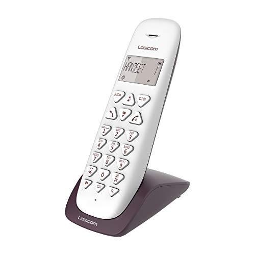 Logicom VEGA 150 Téléphone Fixe sans Fil Aubergine