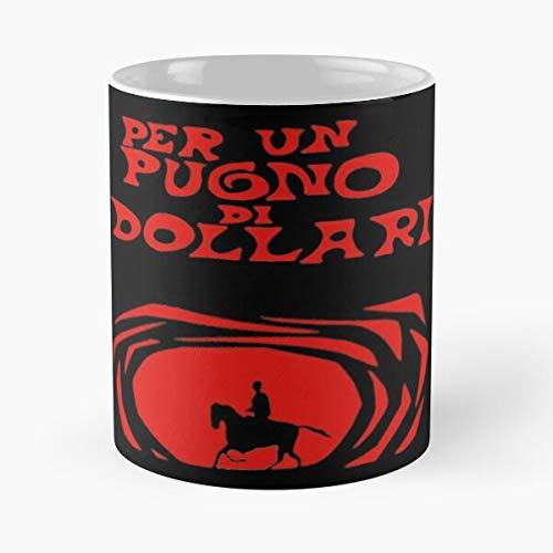 Desconocido Sergio Clint Pugno Di Eastwood Dollari Fistful Un per Dollars Taza de café con Leche 11 oz