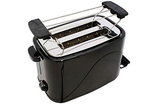 Cook 4 You Tostadora con accesorio para bollos de pan, 700W, 2ranuras, color negro