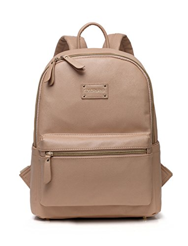 Colorland leather baby diaper bag backpack for mom. Vegan leather diaper bags backpack was crafted for the fashionable mom who wants a small, lightweight diaper bag option that fits EVERYTHING