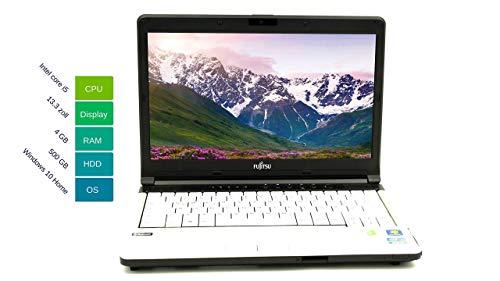 Fujitsu Lifebook S761 33,78 cm 13,3 Zoll WXGA I Studenten Laptop I Intel Core i5-2.Gen 2.5GHz 4GB RAM 500 GB HDD Win 10 Home Tastatur DE Intel HD Graphics 3000 | 1,9 kg schwatz/weiß (Generalüberholt)