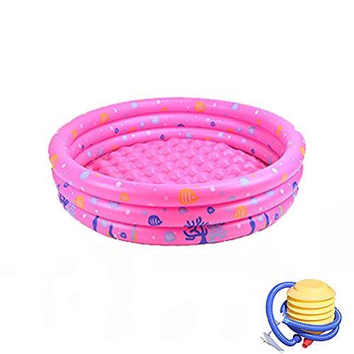 Portable opblaasbaar zwembad met pomp voor de zomer Partij van de Familie opblaasbaar kinderzwembad Bad Kids Oceaan Ball Pool,Pink,130cm
