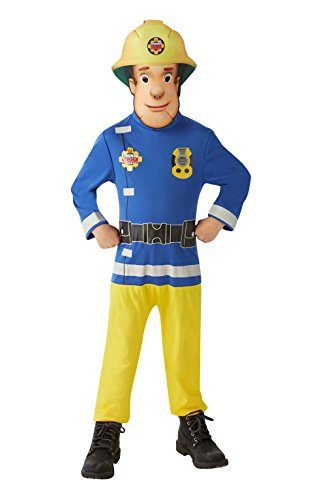 Sam El Bombero - Disfraz Sam El Bombero para niños, talla 3-4 años (Rubie
