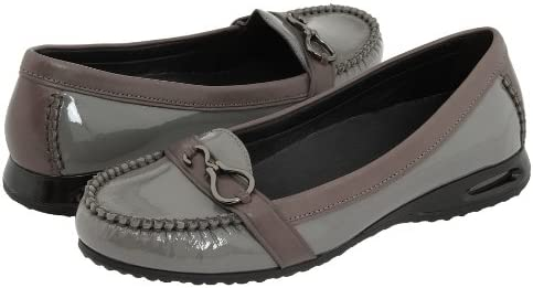 Cole Haan Women's Air Tantivy Patent Leather Loafers Shoes Ironstone 6