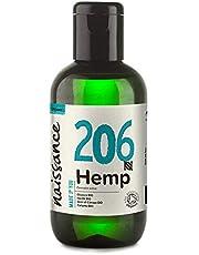 Naissance Organic Cold Pressed Virgin Hemp Seed Oil (nr. 206) 100ml Certified Organic, Vegan, Unrefined. Rijk aan Omega 3, 6 en 9