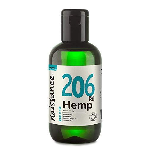 Naissance Hanfsamenöl BIO (Nr. 206) 100ml – nativ, kaltgepresst, 100{a782afe7182c66bd55d1b353d02d0fb2579b15812e6f464aad19d3e169637b91} rein – vegan und tierversuchsfrei – reich an Omega-3 und Omega-6