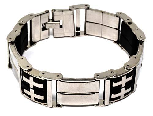 Herren Armband Fahrradkette Armband Motorradkette Rostfreier Stahl Silber Polieren 21 CM Geschenk