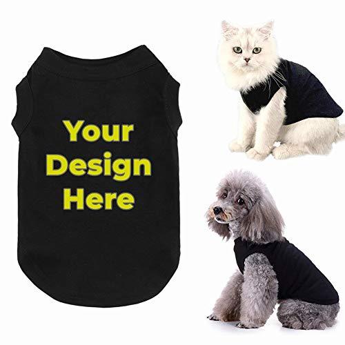 LAOKEAI Personnalisé Vêtements pour Chien en Coton...