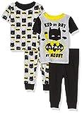 DC Comics Boys 4-Piece Cotton Pajama Set, Kid Batman, 12M