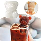 3D Ice Cube Making Machine Little Bear Dogshape Chocolate Mold Tray Ice Cream Diy Tool Whiskey Cocktail Ice Cube Silicone Mold Two-Piece Set