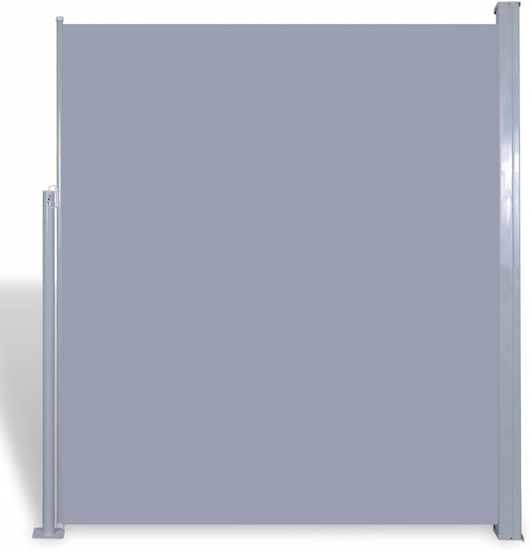 marca VidaXL Toldo Lateral Lateral Lateral Retráctil Poste de Acero gris 160x300 cm Mampara Terraza  tienda en linea