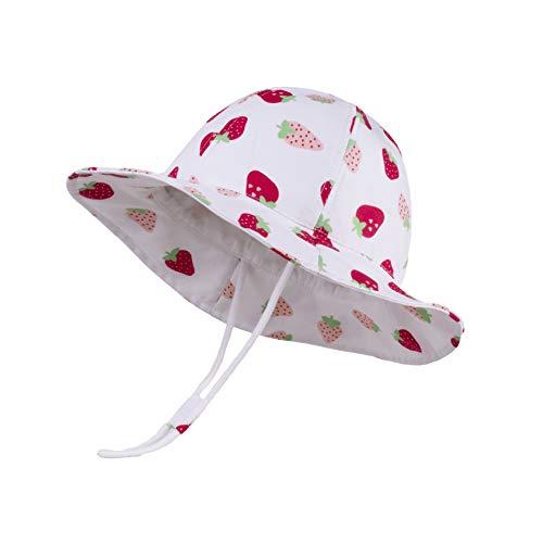 Cutemile Kleinkind Sonnenhut UPF 50 Anti-UV Bezaubernd Mädchen Mütze Sommer Lustig Schöne Verstellbare Träger Kinder Eimer Hut